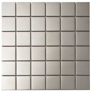 View Silver Stainless Steel Mosaic Tile, (L)300mm (W)300mm details