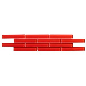 View Red Ceramic Border Tile, (L)454mm (W)106mm details