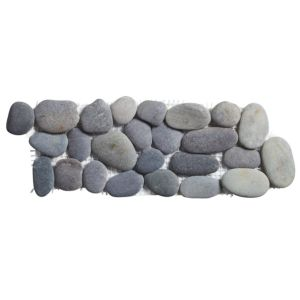 View Pebble Grey Pebble Ceramic Border Tile, (L)300mm (W)100mm details