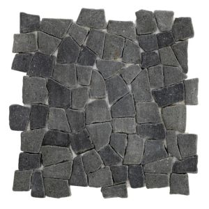 View Black Lava Stone Mosaic Tile, (L)320mm (W)320mm details
