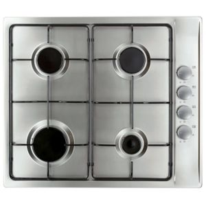 View Cooke & Lewis Stainless Steel Gas Hob (W)580mm details