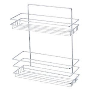 View Cooke & Lewis Timo Chrome Effect Steel Shower Caddy details