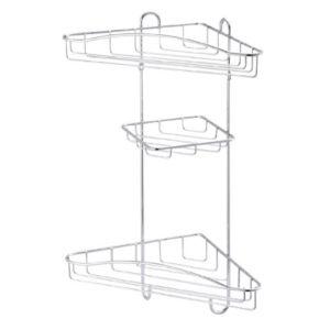 Image of Cooke & Lewis Lauro Chrome effect Steel Corner shower caddie
