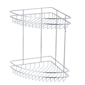 Image of Cooke & Lewis Menta Chrome effect Steel Corner shower caddie