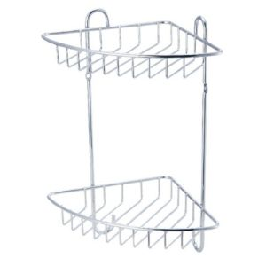 View Cooke & Lewis Sauro Chrome Effect Steel Corner Shower Caddie details