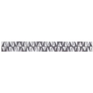View Grey & White Patterned Ceramic Border Tile, (L)714mm (W)80mm details