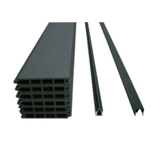 View Charcoal Slatted Composite Fence Pack (W)1.77m (H)900mm details