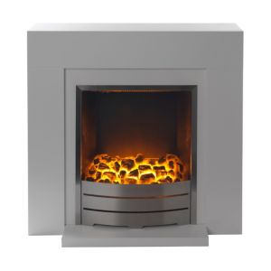 View B&Q Caprice Flat Against Wall Fireplace Suite details