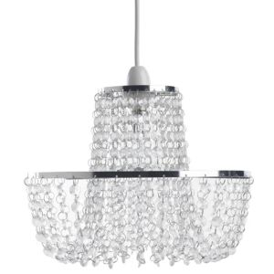 View Colours Coltelli Chrome Effect Beaded Light Shade details