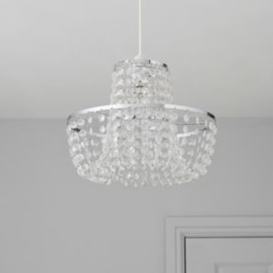 View Colours Coltelli Chrome Effect Beaded Light Shade (D)11.8cm details