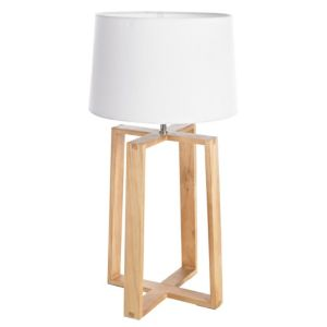 View Colours Mendel Wood & Fabric Push Switch Table Lamp details