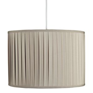 View Colours Hetty Beige Pleated Seine Light Shade details