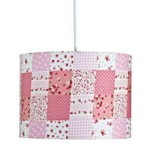 View Colours Ferretti Pink Patchwork Light Shade details