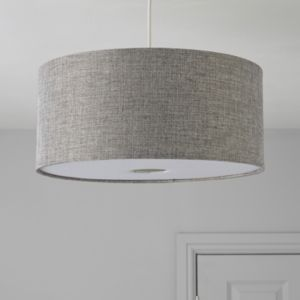 View Colours Burnett Grey Drum Light Shade details