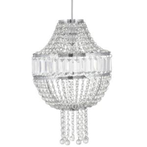 View Colours Cesare Chrome Effect Beaded Light Shade (D)30cm details