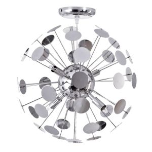 View Cantemir Chrome Effect 4 Lamp Ceiling Light details