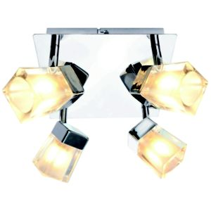 View Glace Chrome Effect 4 Lamp Spotlight Plate details