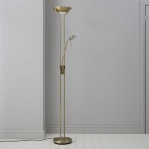 View Mericourt Antique Brass Effect Floor Lamp details