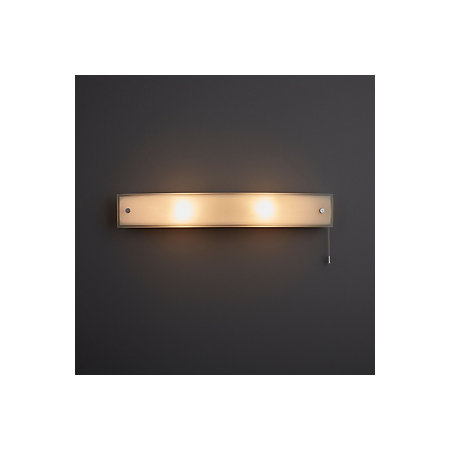 Freem chrome effect bathroom wall light departments for B q bathroom lights