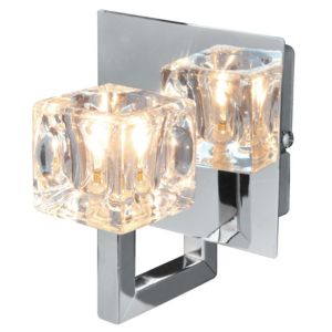 View Glace Chrome Effect Single Wall Light details