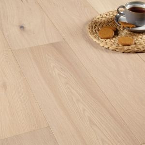 View Colours Jazzy White Oak Real Wood Top Layer Flooring 1.44 m² Pack details