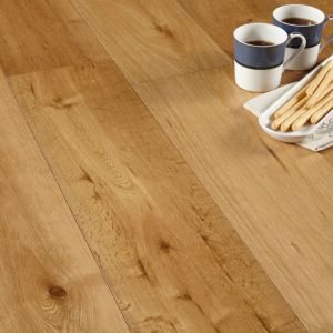View Colours Jazzy Smoked Oak Long Plank Real Wood Top Layer Flooring 1.44 m² Pack details