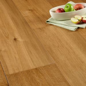 View Colours Jazzy Smoked Oak Handscraped Real Wood Top Layer Flooring 2.9 m² Pack details