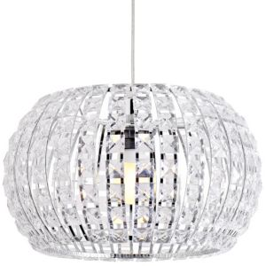 View Oroid Chrome Effect Pendant Ceiling Light details