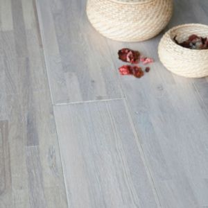 View Colours Barcarolle Antartic White Solid Oak Flooring 1.44 m² Pack details