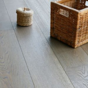 View Colours Jazzy Dove Grey Oak Long Plank Real Wood Top Layer Flooring 2.09 m² Pack details