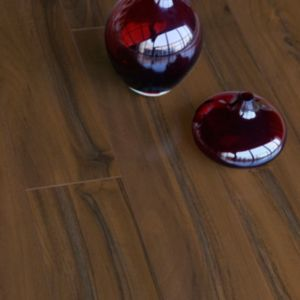 View Colours Scherzo Dark Walnut Effect Laminate Flooring 1.21 sq.m Pack details