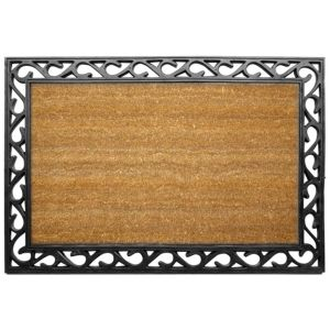 View Diall Black Coir Door Mat (L)900mm (W)600mm details