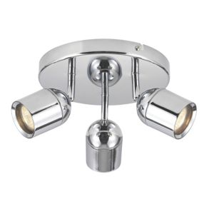 View Chrome Effect 3 Lamp Bathroom Spotlight details