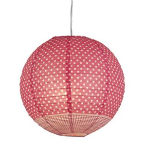 View Colours Suisei Pink Polka Dot Light Shade details