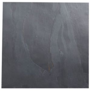 View Black Matt Patterned Slate Wall & Floor Tile, Pack of 5, (L)300mm (W)300mm details