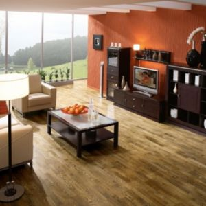 View Colours Sotto Tiger Effect Oak 3 Strip Real Wood Top Layer Flooring 1.58 m² Pack details