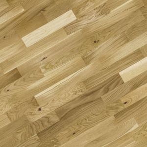View B&Q Natural Oak 3 Strip Real Wood Top Layer Flooring 2.03 m² Pack details