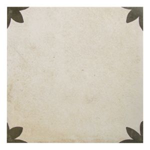 View Colours Versailles Black & Cream Mosaic Porcelain Wall & Floor Tile, Pack of 25 (L)200mm (W)200mm details