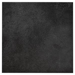 View Basalto Black Glazed Porcelain Wall & Floor Tile, Pack of 25, (L)200mm (W)200mm details
