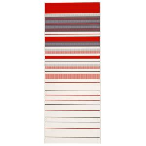 View Solaris Red Striped Ceramic Wall Tile, Pack of 10, (L)500mm (W)200mm details