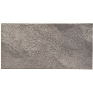 View Indus Grey Stone Effect Porcelain Wall & Floor Tile, Pack of 6, (L)600mm (W)300mm details