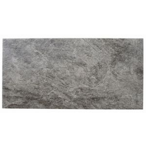 View Indus Dark Grey Stone Effect Ceramic Wall & Floor Tile, Pack of 6, (L)600mm (W)300mm details