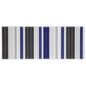 View Solaris Blue Striped Ceramic Wall Tile, Pack of 10, (L)500mm (W)200mm details