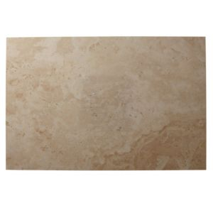 View Tumbled Light Beige Travertine Floor Tile, Pack of 2, (L)610mm (W)406mm details