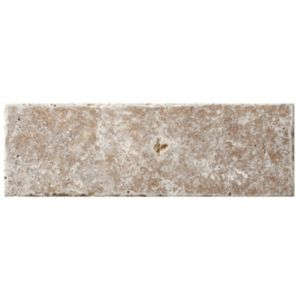 View Tumbled Noce Travertine Wall Tile, Pack of 15, (L)305mm (W)100mm details
