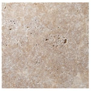 View Tumbled Noce Travertine Wall & Floor Tile, Pack of 10, (L)305mm (W)305mm details