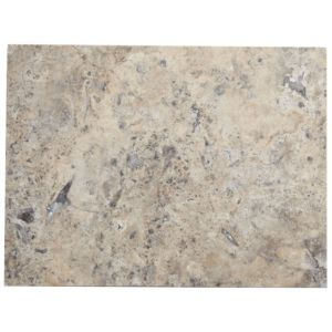 View Honed & Filled Grey Natural Stone Travertine Floor Tile, Pack of 6, (L)406mm (W)305mm details