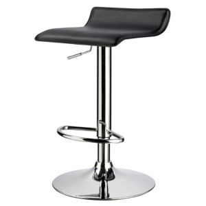 View Cooke & Lewis Dante Black Bar Stool (H) 870 mm (W) 410 mm details