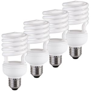 View Diall Edison Screw Cap (E27) 23W Fluorescent Spiral Light Bulb, Pack of 4 details