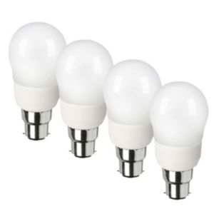 View Diall BC(B22d) Fluorescent Globe Light Bulb, Pack of 4 details